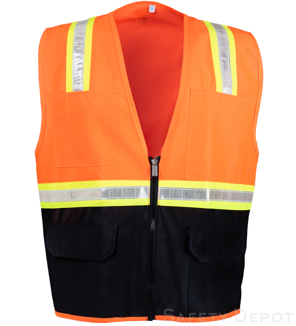 Orange Vest with Black Bottom