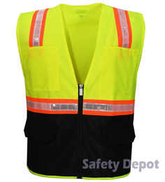 Yellow Vest with Black Bottom