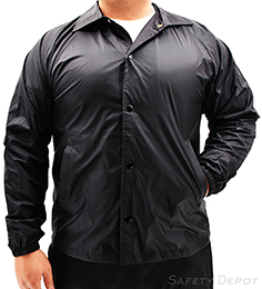 Black Coaches Jacket THUMBNAIL