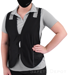 Black Reflective Safety Vest THUMBNAIL