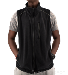Black Fleece Vest THUMBNAIL