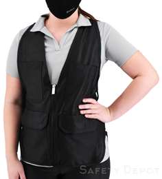 Women's Black Safety Vest THUMBNAIL
