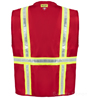Red Button Closure Safety Vest_SWATCH