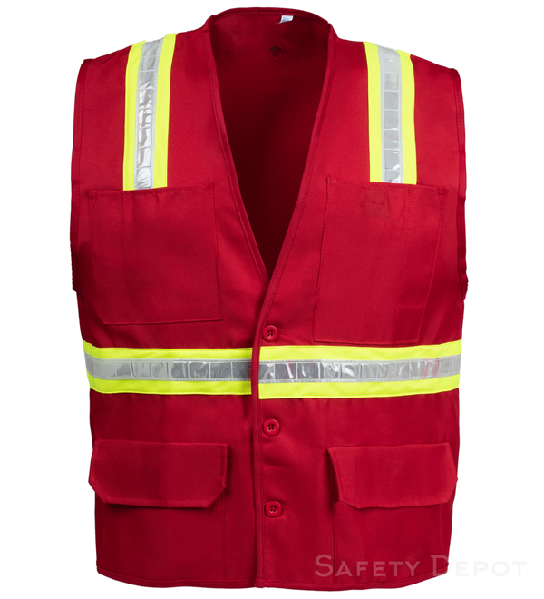 Red Button Closure Safety Vest_MAIN