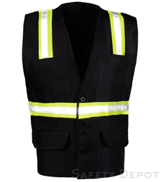 Black Button Closure Safety Vest_THUMBNAIL