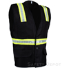Black Button Closure Safety Vest SWATCH