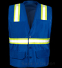 Blue Botton Closure Safety Vest SWATCH