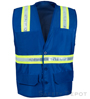 Blue Botton Closure Safety Vest Mini-Thumbnail