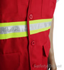 Red Button Closure Safety Vest Mini-Thumbnail