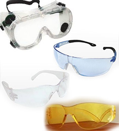 Clear & Gray Safety Glasses