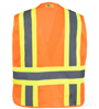 Adjustable Orange Mesh Safety Vest SWATCH