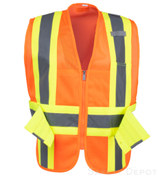 Adjustable Orange Mesh Safety Vest