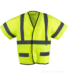Safety Vest Class 3 Yellow Velcro_THUMBNAIL