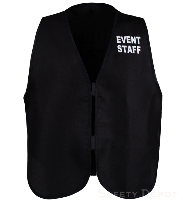 Black Womens' Event Vest MAIN