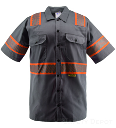 Gray Reflective Work Shirt THUMBNAIL