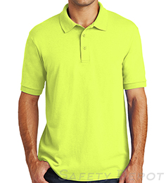 Safety Green Collared Safety Shirt THUMBNAIL