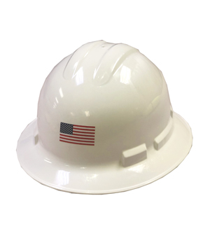 American Flag Hard Hat Stickers MAIN