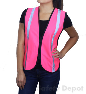 Pink High Visibility Safety Vest_MAIN