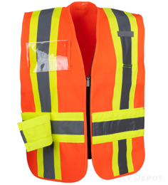 Orange Incident Command Vest THUMBNAIL
