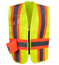 Yellow/Lime Incident Command Vest THUMBNAIL