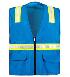 Light Blue Safety Vest THUMBNAIL