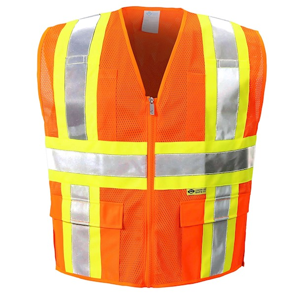 Orange Mesh Reflective safety vest MAIN
