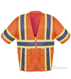 Orange Mesh Class 3 safety vest_THUMBNAIL
