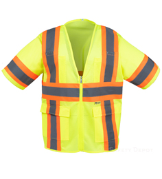 Yellow Class 3 Cool  Mesh Safety Vest_THUMBNAIL