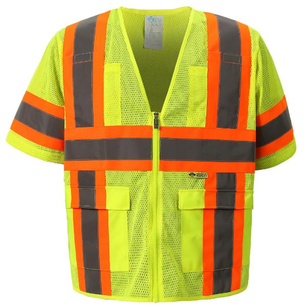 Safety Yellow Mesh  Vest MAIN