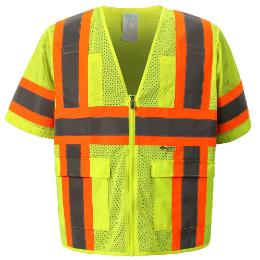 Yellow Class 3 Cool  Mesh Safety Vest THUMBNAIL