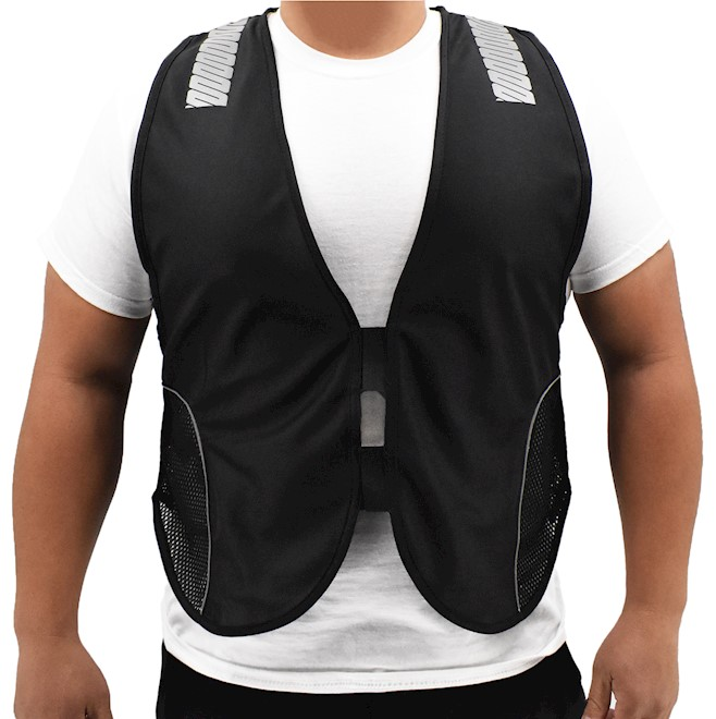 Unisex Black Reflective Safety Vest MAIN