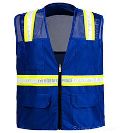 Royal Blue Mesh Safety Vest THUMBNAIL