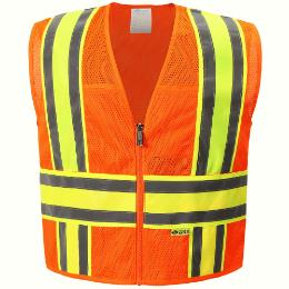 Orange Mesh Safety Vest THUMBNAIL