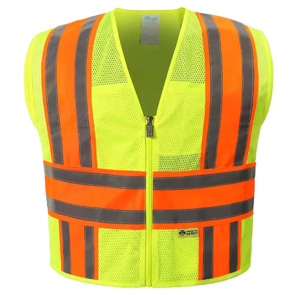 Yellow Mesh Reflective Vest MAIN