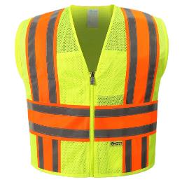 Yellow Mesh Reflective Vest THUMBNAIL