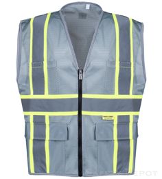 2W International Professional Grey Mesh Vest THUMBNAIL