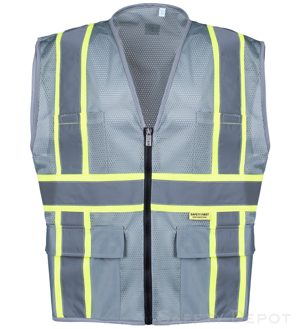 Professional Grey Mesh Vest MAIN