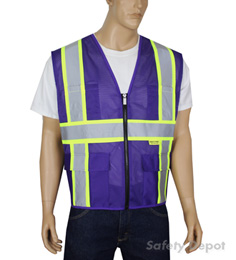 Professional Purple Mesh Vest
