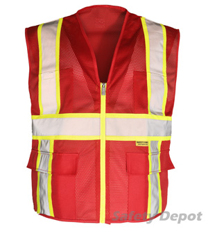 Professional Red Mesh Vest