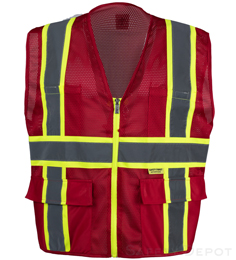 Professional Red Mesh Vest THUMBNAIL