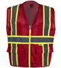Professional Red Mesh Vest SWATCH
