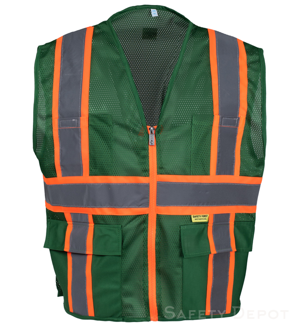 Professional Green Mesh Vest MAIN