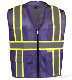 Professional Purple Mesh Vest THUMBNAIL