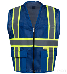 Professional Mesh Royal Blue  Vest THUMBNAIL