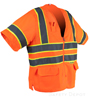 Orange Class 3 Mesh Safety Vest SWATCH