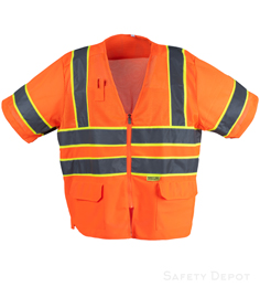 Orange Class 3 Mesh Safety Vest_THUMBNAIL