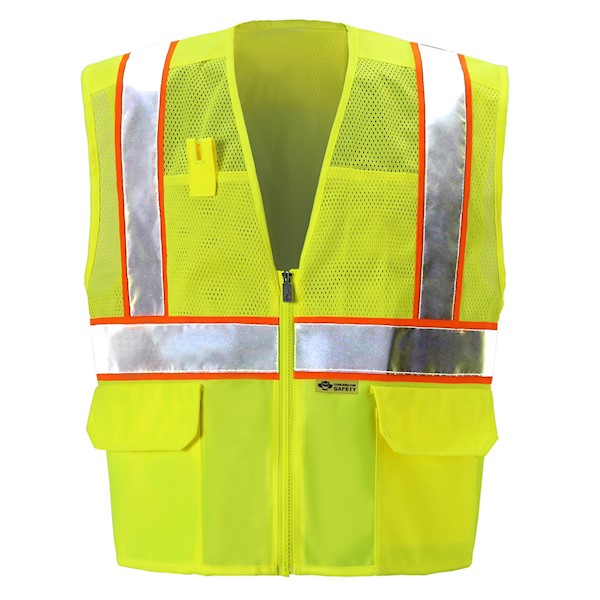Yellow/Lime Mesh Safety Vest MAIN