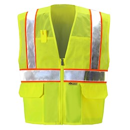 Yellow/Lime Mesh Safety Vest THUMBNAIL