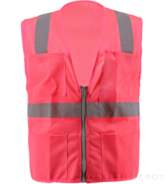 Pink Mesh Safety Vest THUMBNAIL