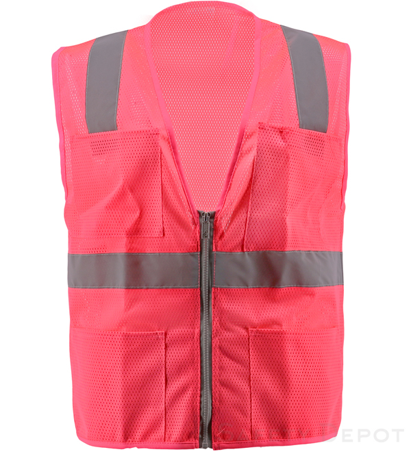 Pink Mesh Safety Vest MAIN